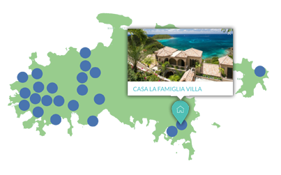 St John villa rental map icon